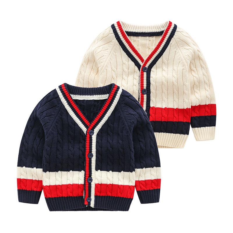 0d536327d 2018 Autumn Winter New Baby Sweater Boys Sweater Striped Kids ...