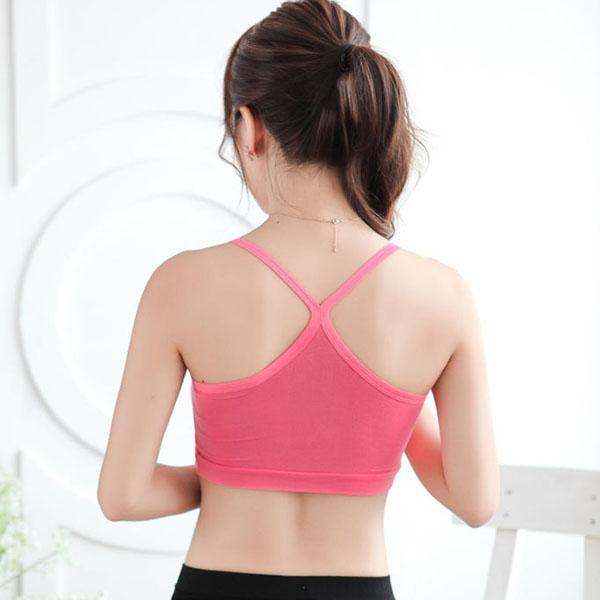 Women/Girl Wrap Crop Vest Tops Underwear Strap bralette Bra Cotton Vest Bra