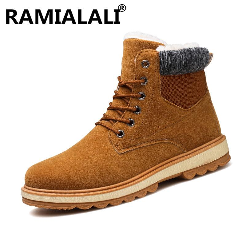 9d39298c706a Winter Men Fashion Leather Snow Boots Casual Men Leather Moccasin Brand Winter  Shoes Ankle Boots Cheap Cowboy White Boots Black Boots For Women From  Palexxx ...