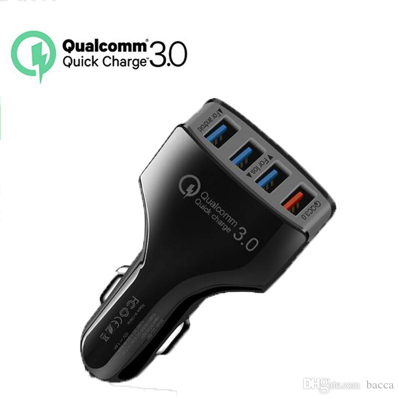 best website cef03 56b83 4 USB QC3.0 Fast Car Charger Qualcomm Quick Charge 3.0 for iphone 7 plus  case samsung galaxy note 8 case