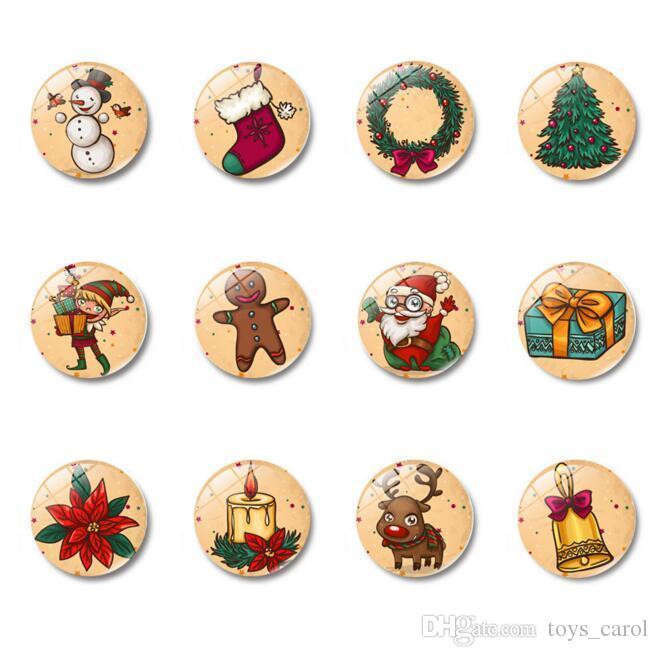 2018 Christmas Decorations Glass Magnetic Refrigerator Sticker 30mm Cartoon Creative Crafts Customization From Toys_carol 0 58 Dhgate Com