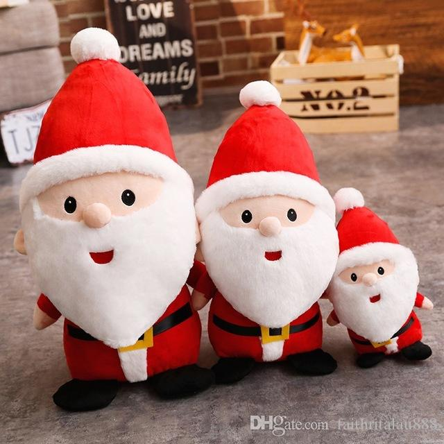 Free Shipping Boys Girls Christmas Toys Gifts For Kids Cute Santa Claus Plush Dolls Showcase Home Christmas Ornaments Children Toys Games