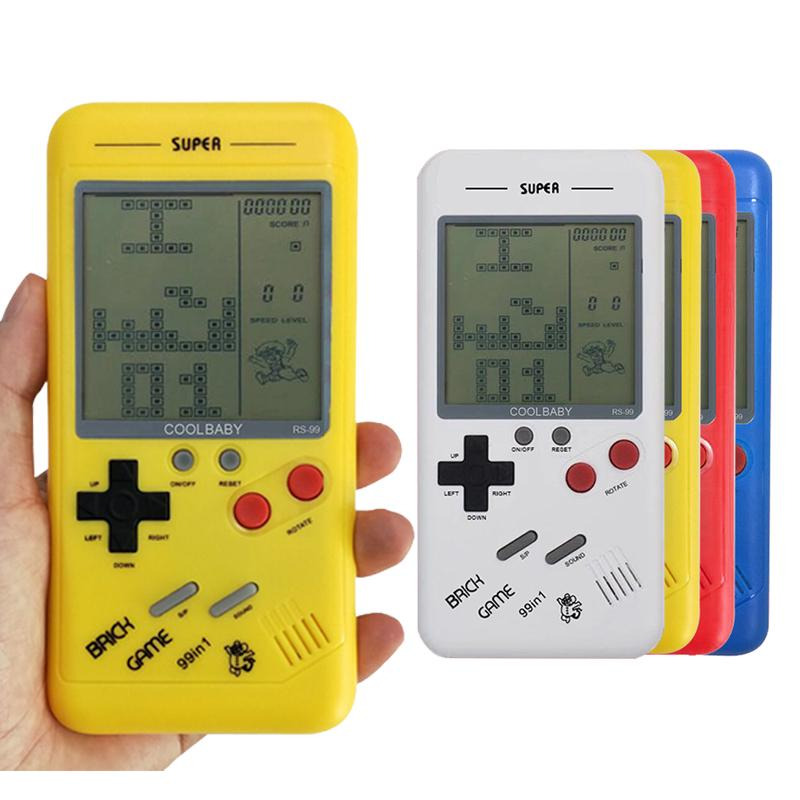 Handheld Console Mini Game Machine Classical Tetris Brick Players Childhood Reminiscence Toys Best Gift For Children Games