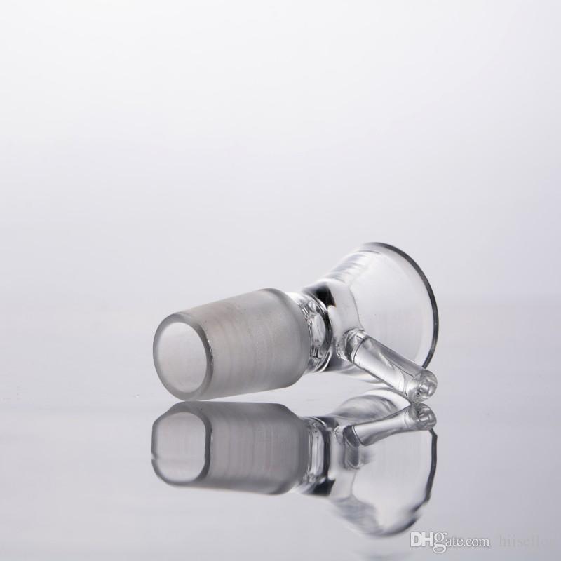 유리 봉 파이프 14mm 유리 그릇 담배와 허브 드라이 보울 슬라이드 18mm 남성 공동 유리 그릇 흡연 액세서리