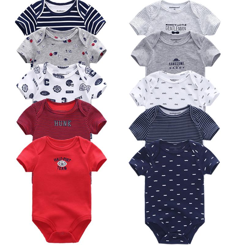 553abb7d6 2019 Baby Rompers 2018 Short Sleeve 100%Cotton Overalls Newborn ...