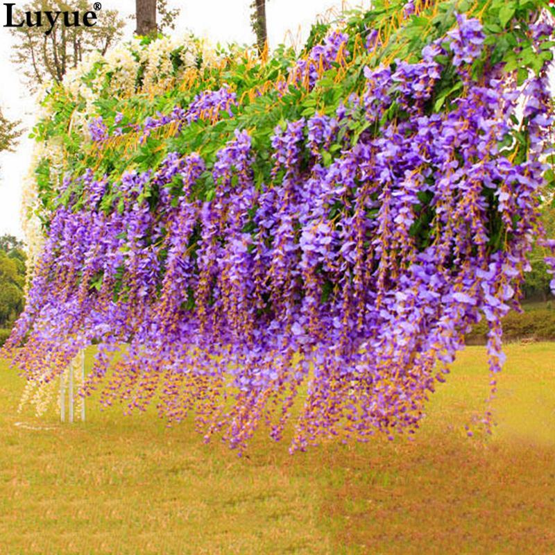 252bdaa4d38 Luyue 110cm Silk Wisteria Garland Artificial Wisteria Flower