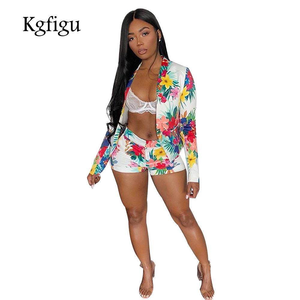 805f382d434b KGFIGU Crop Top And Shorts Sets Women 2018 Fashion Sexy Flower Print T  Shirts And Short Pants Matching Set Outfits Women's Sets Cheap Women's Sets  KGFIGU ...