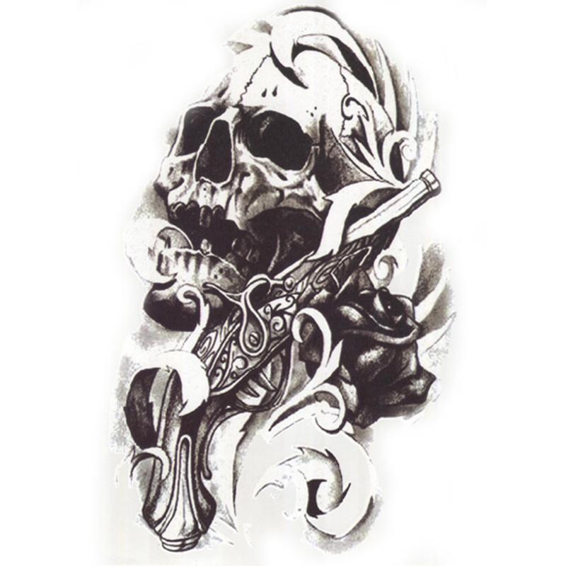 Acheter Noir Mort Crane Epaule 3d Tatouage Etanche Tatouages