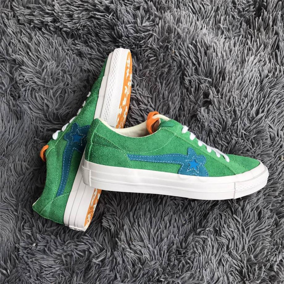 06fde6ab1b4c CONVERSESS ONE STAR OX TYLER THE CREATOR GOLF LE FLEUR JOLLY GREEN ONESTAR  GLFLEFLRJLYGRN 160322C JADE LIME SUEDE CASUAL SNEAKER FOR WOMENS Brown  Shoes ...