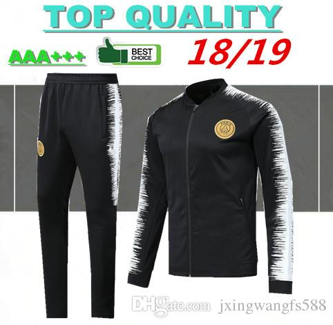 e63ee7a7f 2019 2018 2019 Paris Soccer Jacket Sets Tracksuit Football Training Suit 18  19 Survetement MBAPPE DI MARIA CAVANI MATUIDI Jogging Jackets Kits From ...