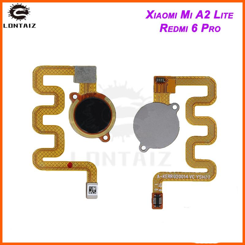 for Xiaomi Mi a2 lite fingerprint scanner Home Button Flex Cable Touch ID  Sensor Return Flex Cable for Redmi 6 Pro Repair Parts