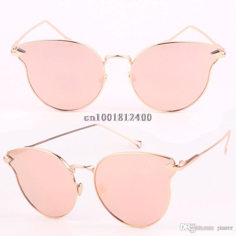 a95e1c102a New Cat Eye Sunglasses Women Brand Designer Fashion Twin-Beams Rose ...