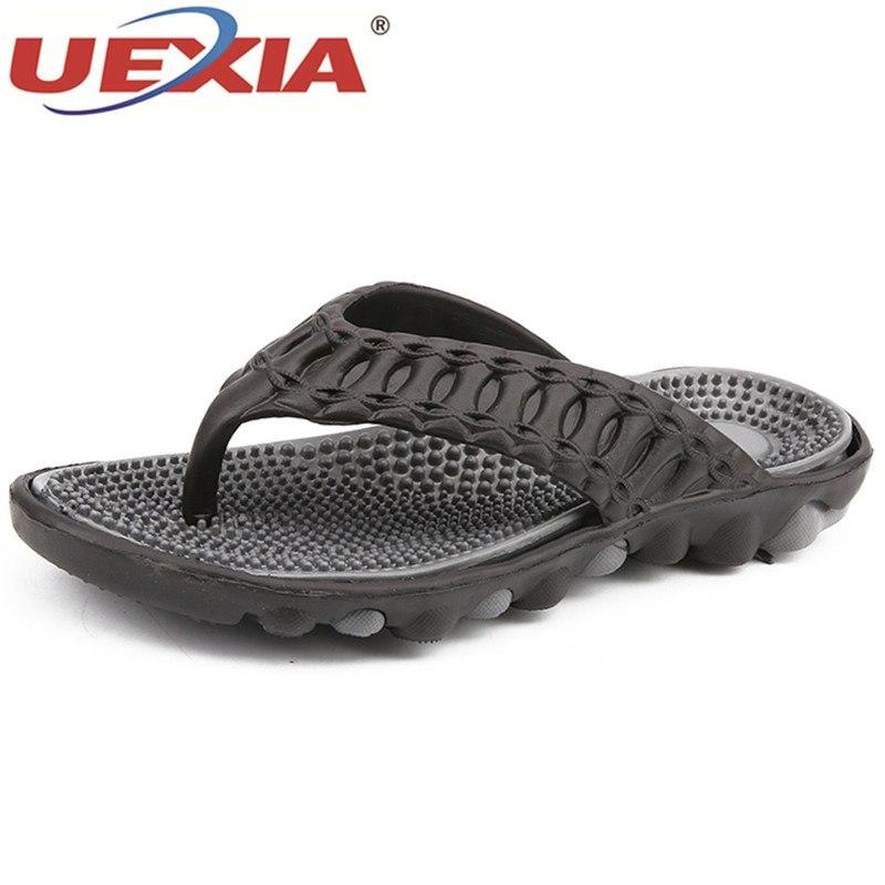 21ad18d2910b2d UEXIA Fashion Flip Flops Men Massage Summer Shoes Men Slippers Beach Flip  Flops Sandalias Hombre Slide Outdoor Beach Flats High Heel Shoes Designer  Shoes ...