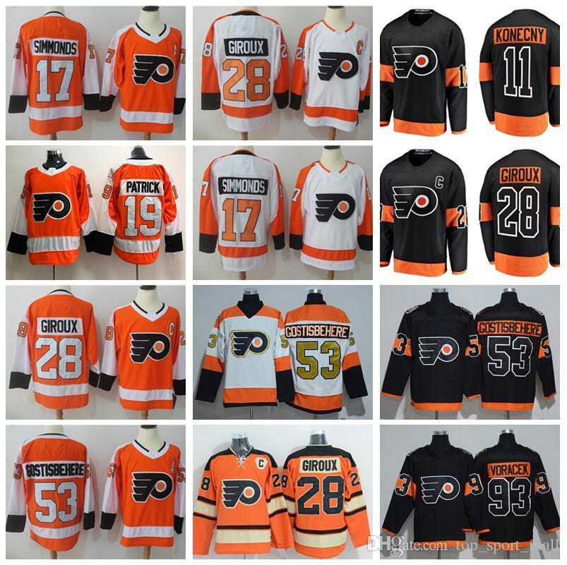 da44e0d32 Großhandel 2012 Winter Classic Jersey Philadelphia Flyer 2017 Stadium  Series Hockey 9 Ivan Provorov 11 Travis Konecny 19 Nolan Patrick Claude  Giroux Von ...