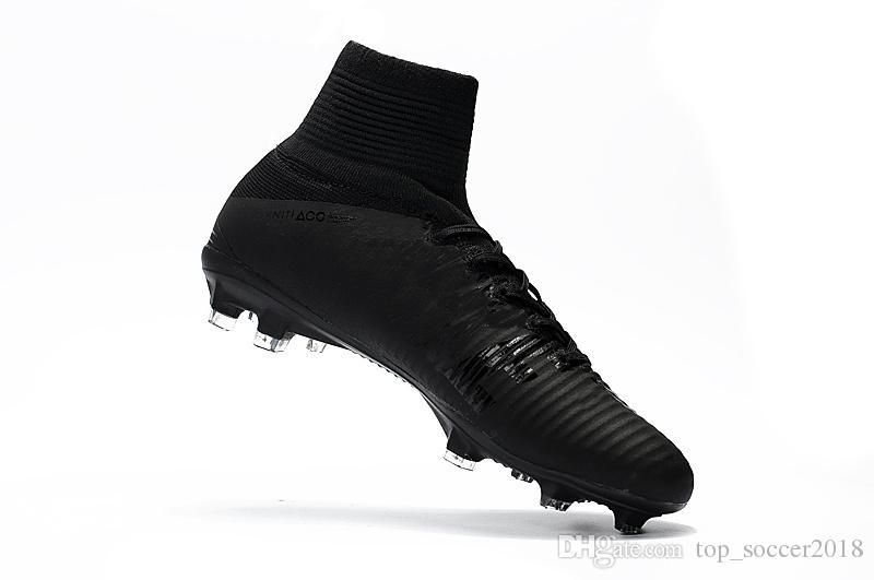 Scarpe Oro Rosso morsetti di calcio Mercurial Superfly bambini di calcio di alta della caviglia di Cristiano Ronaldo delle donne degli uomini Scarpe da calcio