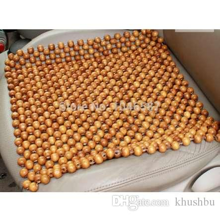 Wood Bead Car Seat Cushion Wooden Beads Chair Art Massage Cover C Auto Covers Leather From Khushbu