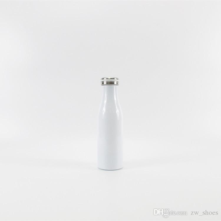 new 17OZ stainless steel milk bottle Vacuum Insulated water bottle Macaroon color for kid kettle Drinkware