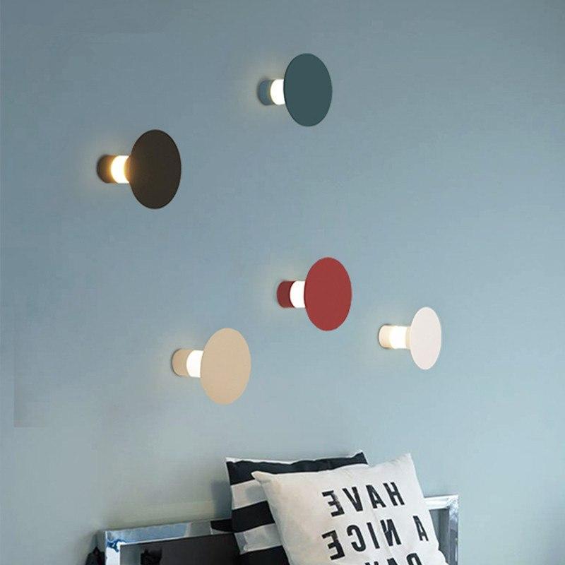 Personnalité La Applique Chambre Créative À Luminaire De Chevet Appliques Ronde Nordique Moderne Lampe Murale Led Couloir Maison 80OnwPk