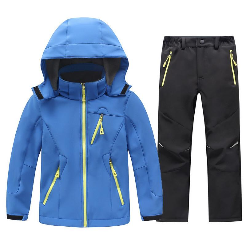 92cfc2fa4 2019 2018 Children Softshell Fleece Jackets And Pants Boys Girls ...