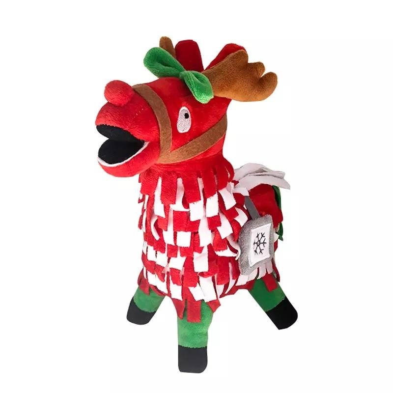 30 Cm 12 Zoll Fortnite Weihnachten Plüsch Puppen Stash Elch Lama Figur Weiche Gefüllte Pferd Tier Cartoon Spielzeug Action Figure Spielzeug