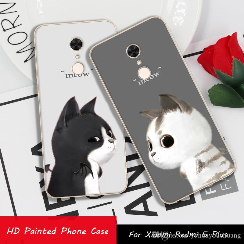 743eb9daed2 Compre RIJOW Para Xiaomi Redmi 5 Plus Case Para Xiaomi Redmi5 Plus Casos  Gato Dos Desenhos Animados Macio TPU Silicone Xiomi Redmi 5 Além De Casos  De ...