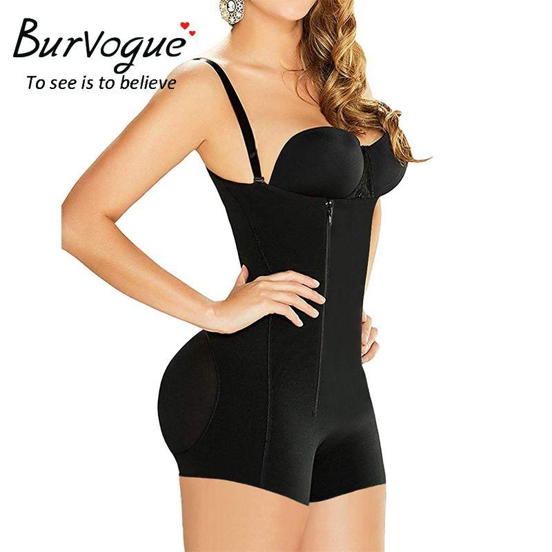 dd20f020286fd Burvogue Hot Shapers Women Slimming Waist Trainer Shapewear Tummy Control  Underwear Butt Lifter Latex Zipper Sexy Body Shaper UK 2019 From Junxcj