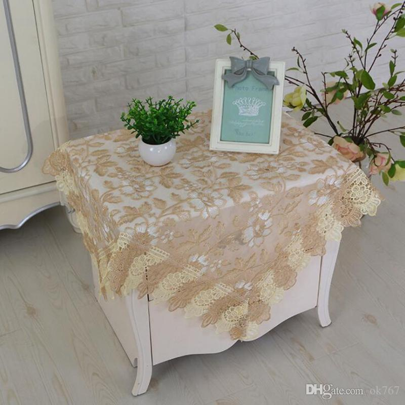 Wholesale Modern Minimalist Elegant Home Square Lace Embroidered