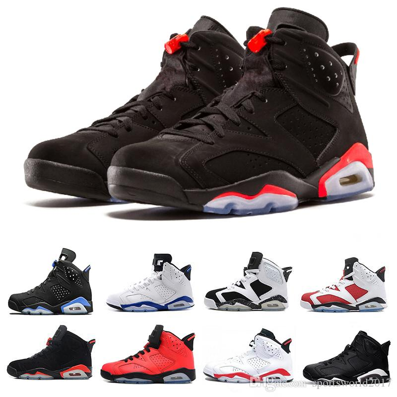 e410dcb055b 2019 Designer Shoes Men 6 Basketball Shoes Tinker Trainers Sneaker UNC Blue  Black Cat White Infrared Red Carmine Maroon New Mens Sports Sneakers From  ...