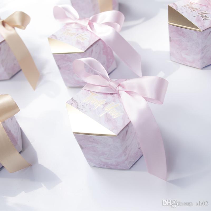 nuove caramelle di stile di marmorizzazione creativi favori di nozze rifornimenti del partito Baby Shower grazie contenitore di regalo