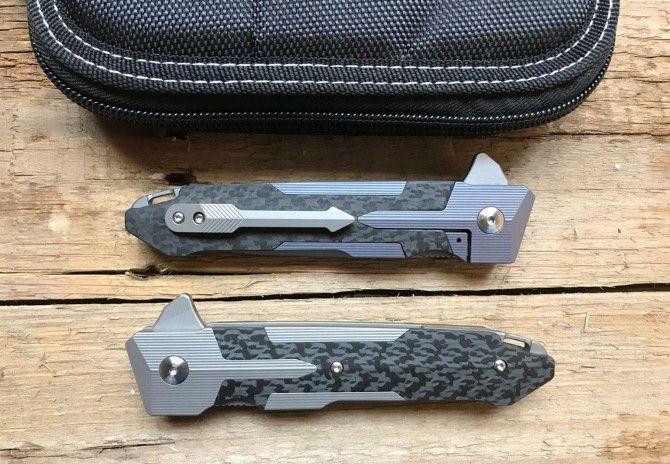 The Spartan S35V titanium alloy knife Best folding pocket knife Titanium alloy handle D2 steel blade Bearing structure best gift knives