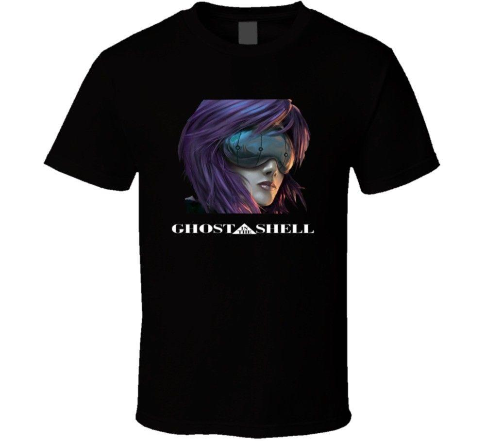 2018 Male Best Selling Ghost In The Shell Anime T Shirt Summer Tee Shirt
