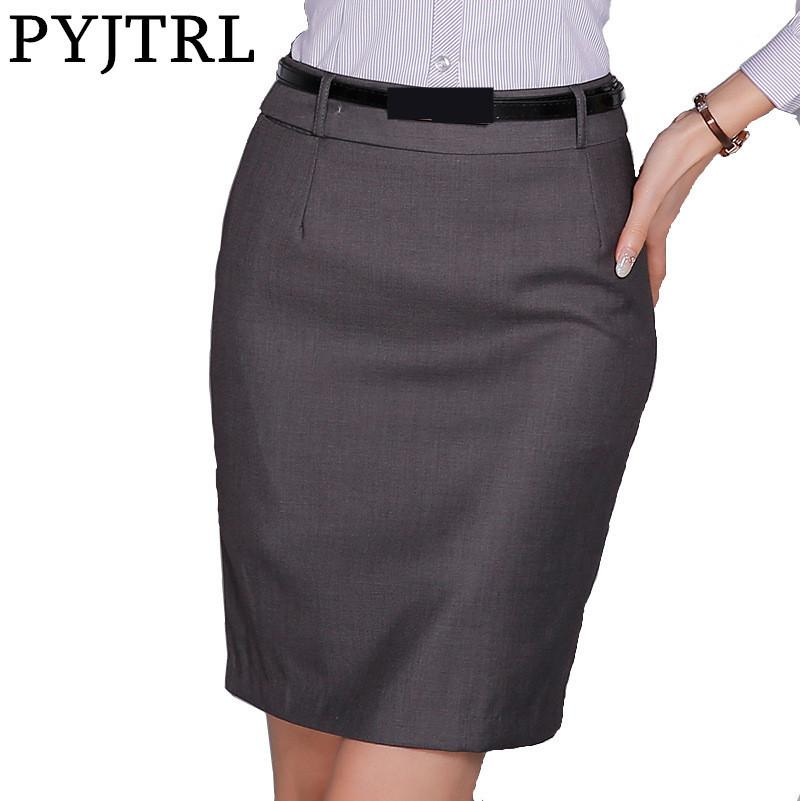 3b62bc3db45 2019 PYJTRL Summer Classic Skirts Womens New Fashion Skirts OL Formal  Office Ladies Mini Short Plus Size Women S Pencil Skirt From Vanilla10