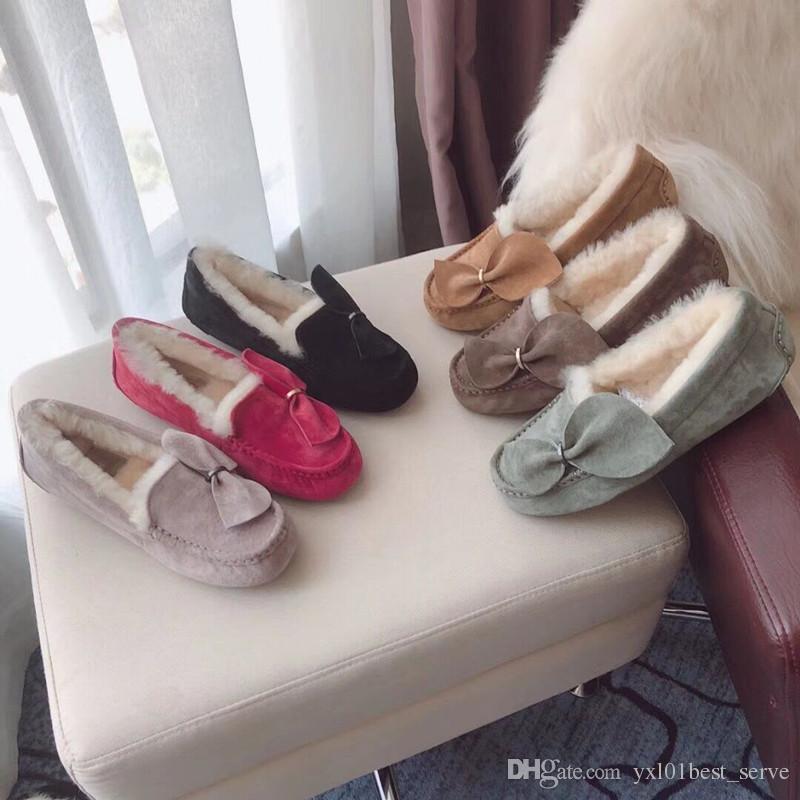 factory price ffd6b e1875 2018 Mode Damen Pelz Einzelne Schuhe Australien Frauen Stiefel AAA +  Qualität Super Mehrfarben Mode Wolle Winter Schnee Luxus Stiefel Größe 36-40
