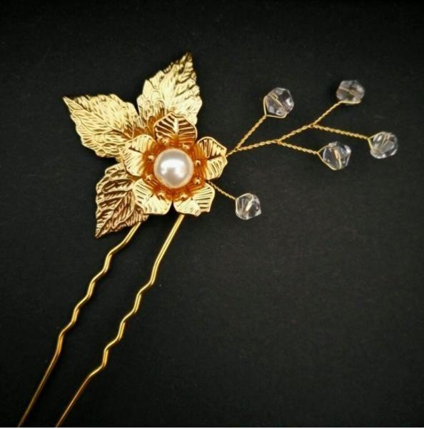 Flower bride new head ornament hairpin wedding head wedding wedding ornament jewelry