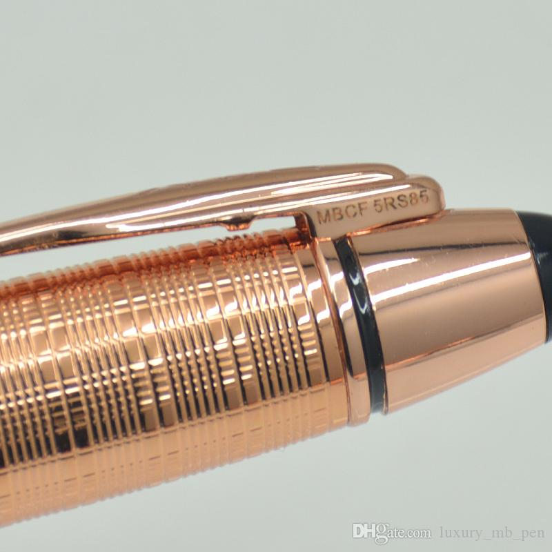 Limited edition John F. Kennedy Rose Gold Roller-ballpoint Pens with Monte JFK Mark clip PVD-coated fittings and brushed surfaces and Nunber