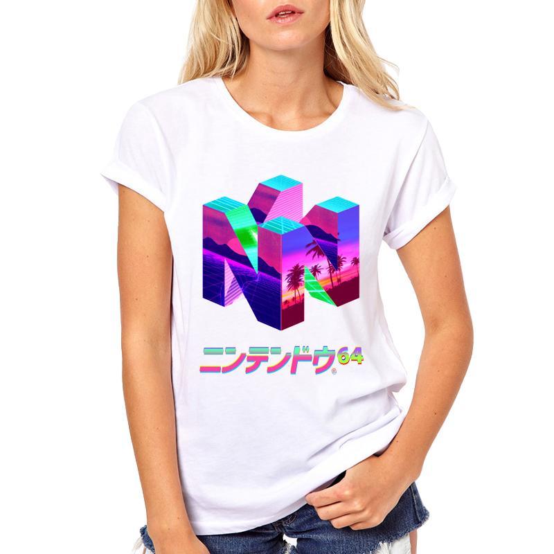 5697a620 Women's Tee 3d Geometry 2018 Vaporwave T Shirt Women Summer Fashion ...