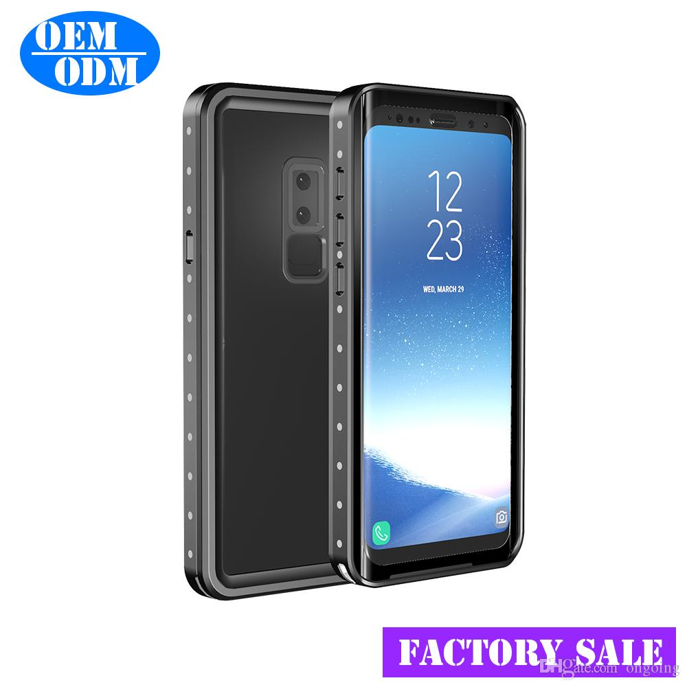 low priced 54463 b17f0 IP-68 Waterproof Case For Samsung Galaxy / S9 Plus Cover Plastic Shockproof