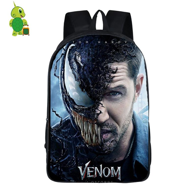 20e3e02ae4d5 Venom Eddie Anti Hero School Bag For Teenage Boys Girls Daily Backpack  Laptop Backpack Women Men Casual Travel Shoulder Bags Small Backpack  Backpack Brands ...
