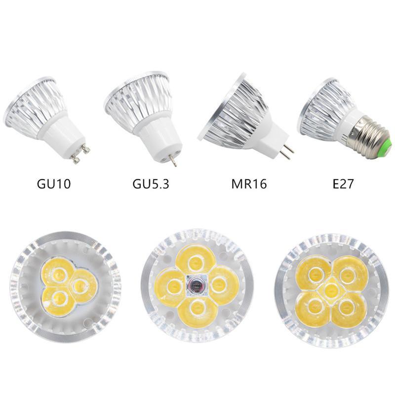 Dimmable Led Lamp E27 220v 110v Gu5.3 Lampada Led Spotlight Gu10 3w ...