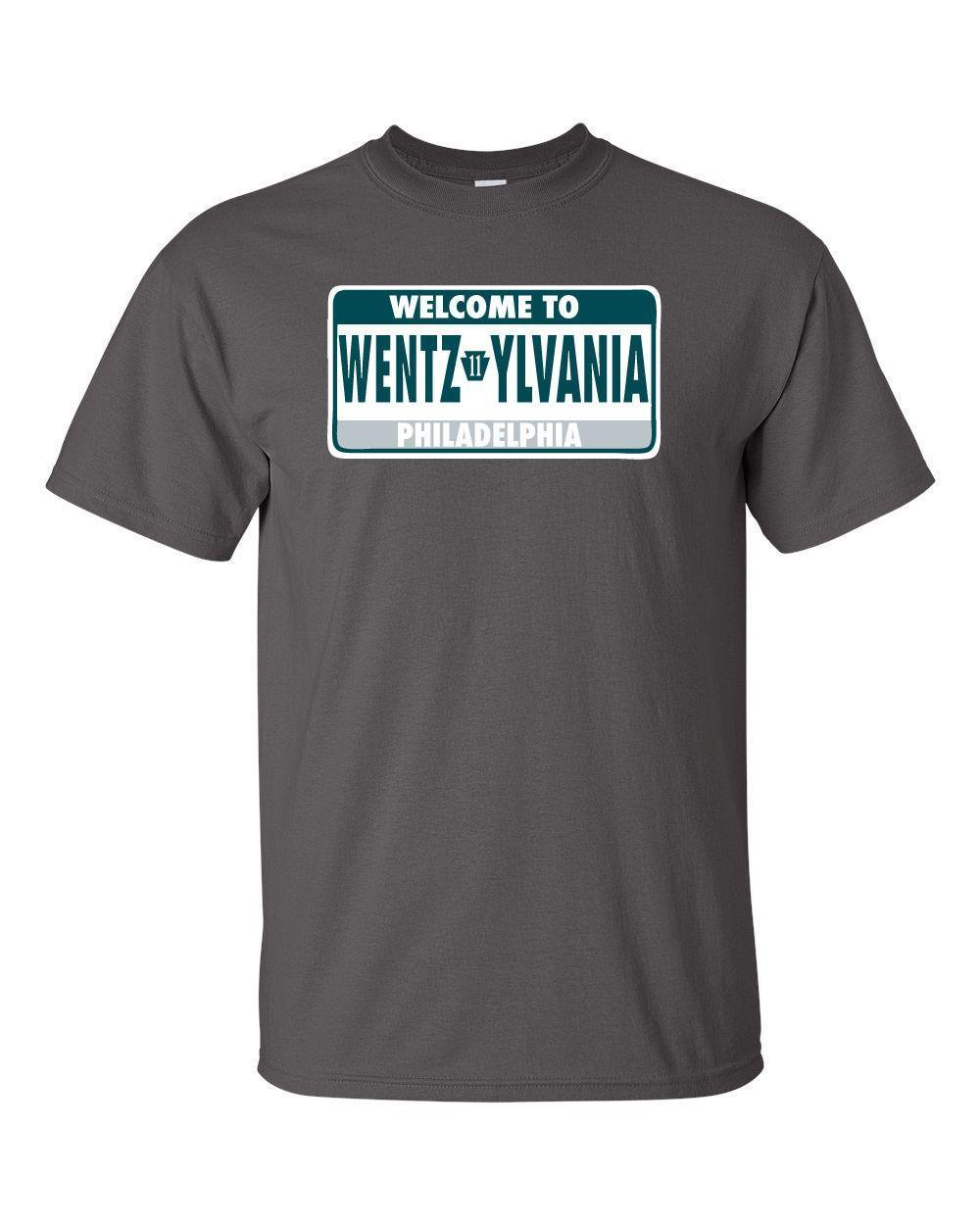 78fa0bd3e Carson Wentz Philadephia Eagles Wentzylvania T Shirt Jersey S 5XL Design  And Buy T Shirts Tee Shirt Online Shopping From Lusi06