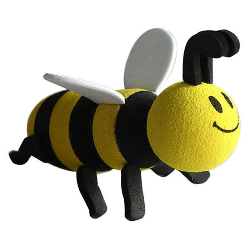 Car Styling Cute Smiley Honey Yellow Bumble Bee Aerial Pen Topper Auto  Antenna Animal Ball Decoration Car Exterior Ornaments