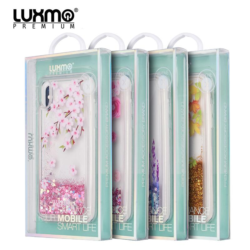 Flower Liquid Hard Phone Case for IPhone X Lavender Waterfall Fusion ... 36718a9538