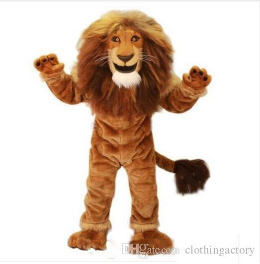 2018 High quality hot Lion Mascot Costume adult size brave Lion cartoon Costume Party fancy dress factory direct sale