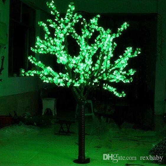أدى الاصطناعي شجرة الكرز شجرة ضوء عيد الميلاد ضوء 1248 قطع الصمام المصابيح 2 متر / 6.5 ft ارتفاع 110/220vac المعطف في استخدام شحن مجاني