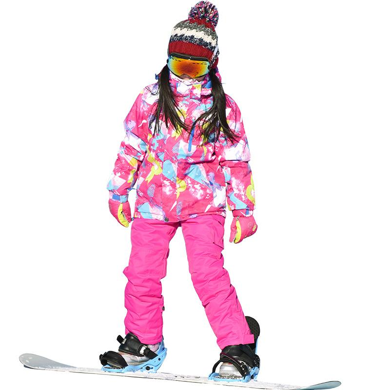 85fc6913ba47 2019 Marsnow Ski Suit Winter Jacket+Pants 110 160 New Waterproof ...