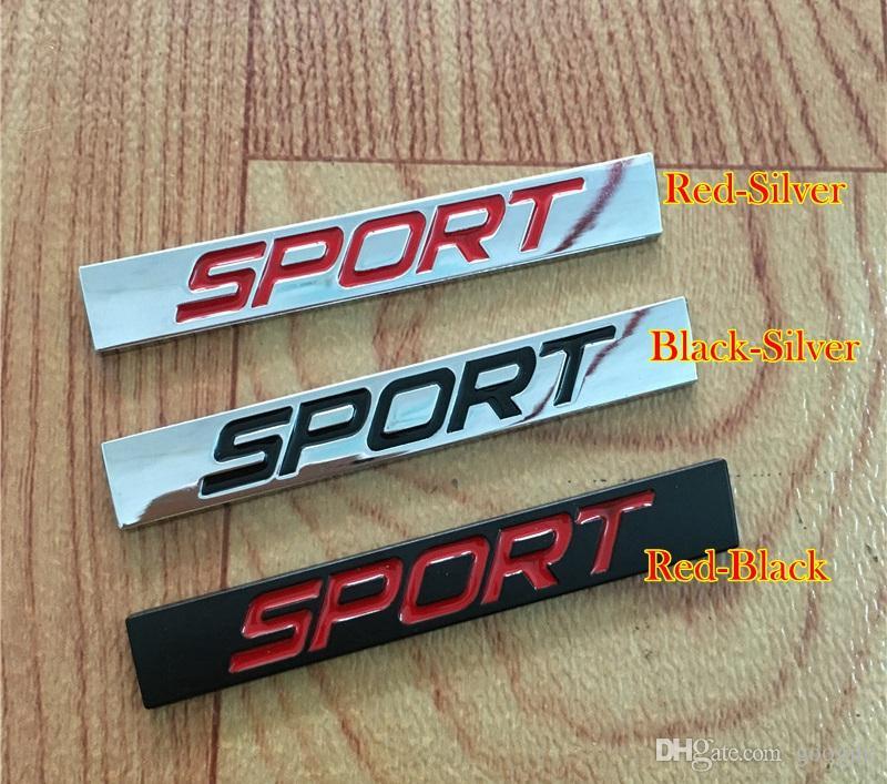 3D Metal Spor Logo Kare Bar Araba Styling Amblem Rozeti Oto Yetgeçme Sticker Çıkartması Yeni Jetta Bora Lavida