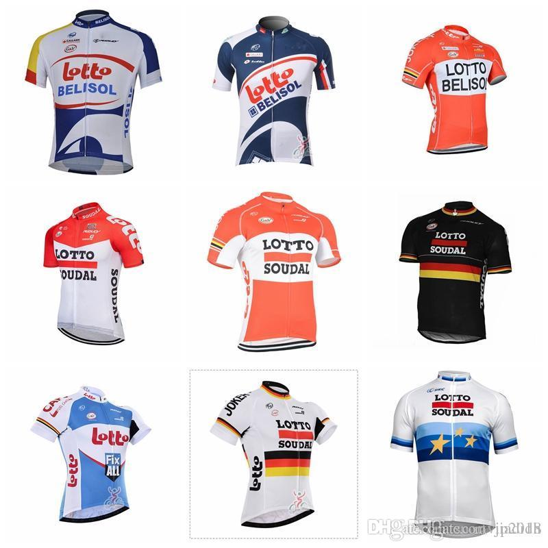 1cfb61472 2018 LOTTO Tour De France Cycling Short Sleeves Jersey Shirt Ropa ...