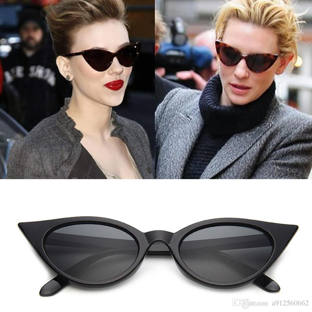 f76ae38f0b New Sexy Cute Cat Eye Sunglasses Women Wild Vintage Cheap Sun Glasses  Female Small Frame Superstar Style Eyewear Brand Designer Wiley X Sunglasses  Mirror ...