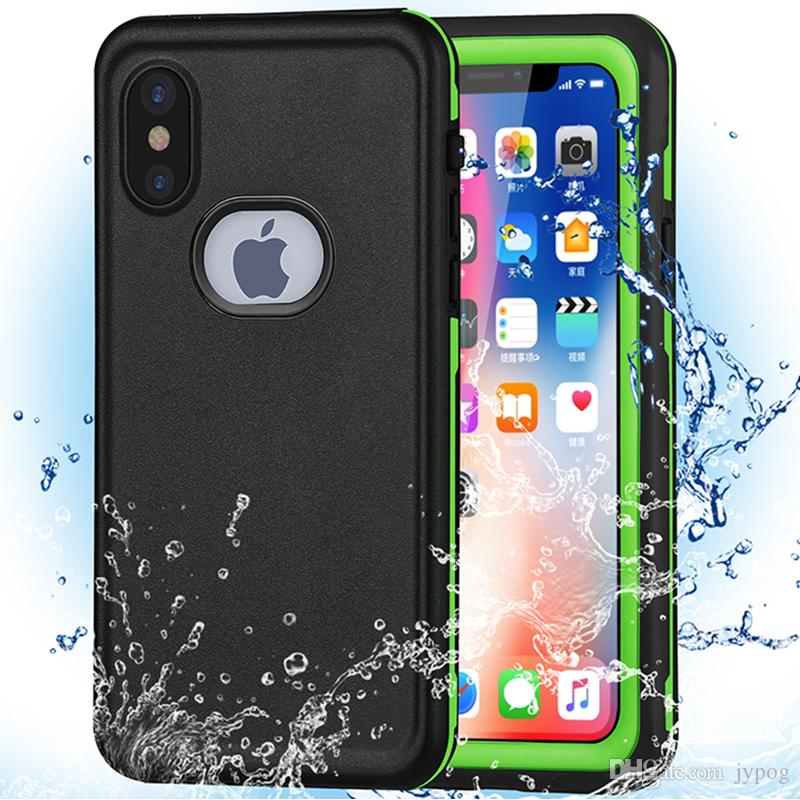 Waterproof Phone Case for iPhone XSXR Defender Case Under Water Full Sealed Cover Waterproof Shockproof Snowproof Case with Screen Protector