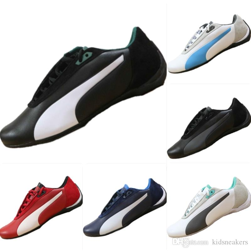 bf7b12ba28961 2019 AMG Petronas Formula One Team Leather Casual Racing Sneakers Future  Cat Leather SF Running Athletic Shoes